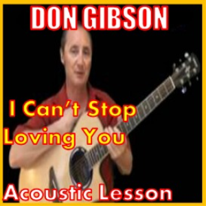 learn to play i cant stop loving you by don gibson