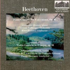 beethoven: piano concerto no. 3/violin concerto - jenner/cyroulnik