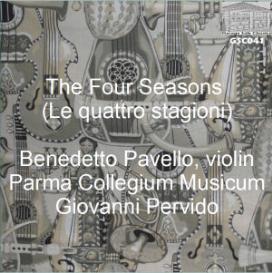 vivaldi: the four seasons (le quattro stagioni), from il cimento dell'armonia e dell'inventione, op. 8 - benedetto pavello, violin; parma collegium musicum/giovanni pervido