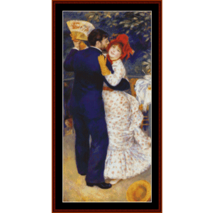 Dance in the Country, 1883 - Renoir cross stitch pattern by Cross Stitch Collectibles | Crafting | Cross-Stitch | Wall Hangings