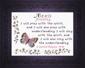 Name Blessings - Alexis | Crafting | Cross-Stitch | Religious