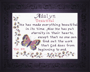 Name Blessings - Adalyn | Crafting | Cross-Stitch | Other