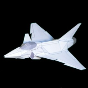 Paper JAS-39 Gripen White | Crafting | Paper Crafting | Paper Models
