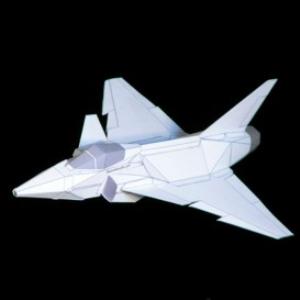 paper jas-39 gripen white