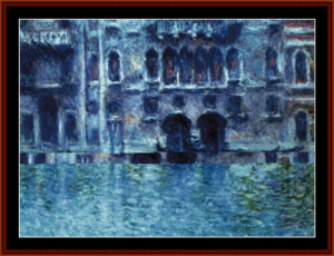 palazzo da mula venice - monet cross stitch pattern by cross stitch collectibles