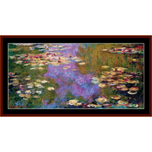 waterlilies 1919 - monet cross stitch pattern by cross stitch collectibles