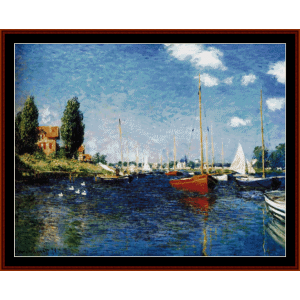 argenteuil 1875 - monet cross stitch pattern by cross stitch collectibles