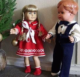 dollknittingpattern 0008d- seline & snorre - dress, pants and shoes - long-(english)