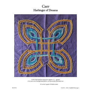 caer - celtic hand embroidery pattern