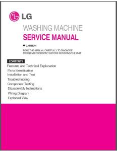 LG F1495KDS6 F1495KD F1495KDS Washing Machine Service Manual Download | eBooks | Technical