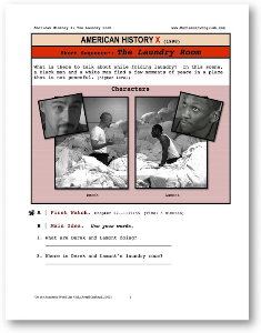 american history x the laundry room, short-sequence english (esl) lesson
