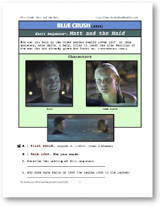 blue crush, matt and the maid, short-sequence english (esl) lesson