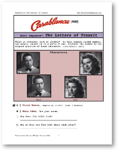 casablanca, the letters of transit, short-sequence english (esl) lesson