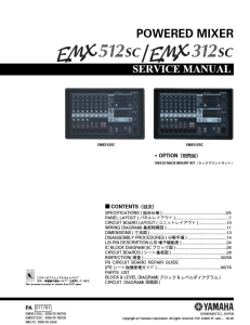 Yamaha EMX512SC EMX312SC Mixer Service Manual Download | eBooks | Technical