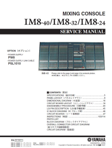 Yamaha IM8-24-IM8-32 IM8-40 Mixing Console Service Manual Download | eBooks | Technical