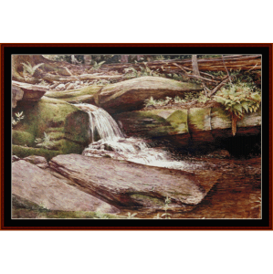 Spillway - Americana cross stitch pattern by Cross Stitch Collectibles | Crafting | Cross-Stitch | Wall Hangings