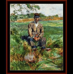 laborer at celeryan - lautrec cross stitch pattern by cross stitch collectibles