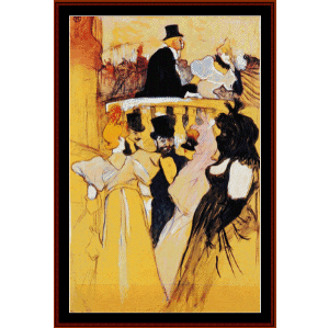 at the opera ball - lautrec cross stitch pattern by cross stitch collectibles