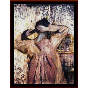 combing - lautrec cross stitch pattern by cross stitch collectibles