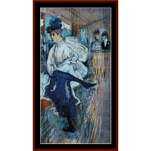 jane avril dancing - lautrec cross stitch pattern by cross stitch collectibles