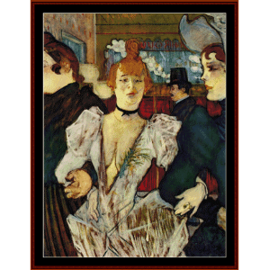 arriving at the moulin rouge - lautrec cross stitch pattern by cross stitch collectibles