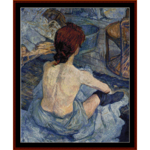 woman at her toilette - lautrec cross stitch pattern by cross stitch collectibles
