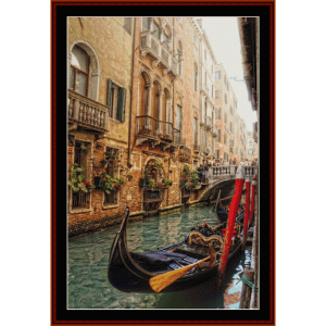 Venice Balconies - Travel cross stitch pattern by Cross Stitch Collectibles | Crafting | Cross-Stitch | Wall Hangings
