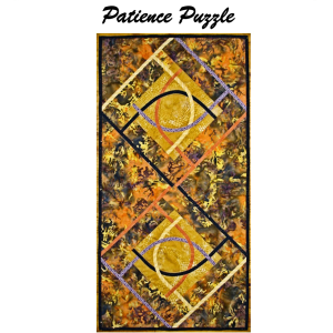 patience puzzle modern bias applique and patchwork pattern
