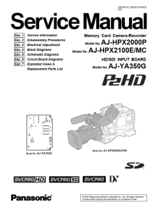 Panasonic AJ-HPX2000 HPX2100 Professional Camcorder Service Manual Download | eBooks | Technical