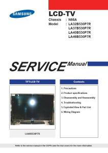 Samsung LA32B530P7R LA37B530P7R LA40B530P7R LA46B530P7RTelevision Service Manual Download | eBooks | Technical