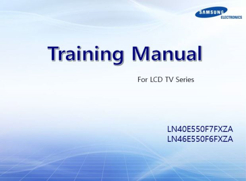 First Additional product image for - Samsung LN40E550F7F LN40E550F7 Television Service Manual Download