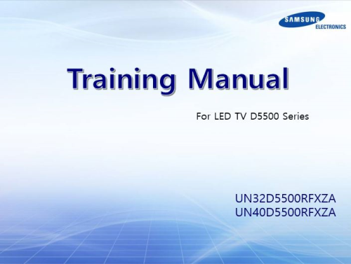 First Additional product image for - Samsung UN32D5500 UN32D5500RF UN40D5500 UN40D5500RF LED TV Service Manual