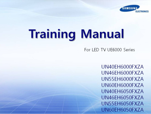 First Additional product image for - Samsung UN60EH6003 UN60EH6003F Television Service Manual Download