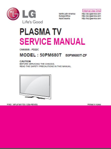 LG 50PM680T  TV Service Manual Download | eBooks | Technical