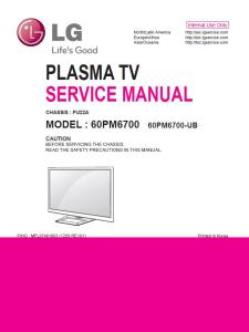 lg 60pm6700 ub  tv service manual + schematics