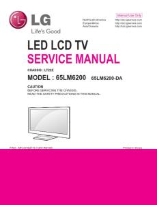 lg 65lm6200 da tv service manual + schematics