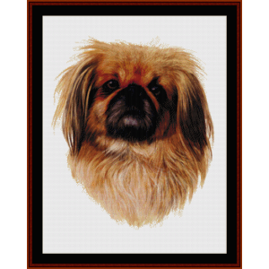 Pekingese - Robert J. May cross stitch pattern by Cross Stitch Collectibles | Crafting | Cross-Stitch | Wall Hangings