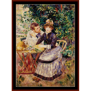 In the Garden - Renoir cross stitch pattern by Cross Stitch Collectibles | Crafting | Cross-Stitch | Wall Hangings