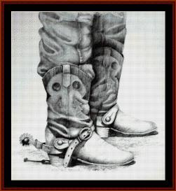 Boots - SuzyPal cross stitch pattern by Cross Stitch Collectibles | Crafting | Cross-Stitch | Wall Hangings