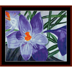 crocus - floral cross stitch pattern by cross stitch collectibles