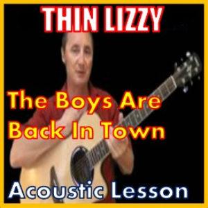 learn to play the boys are back in town by thin lizzy