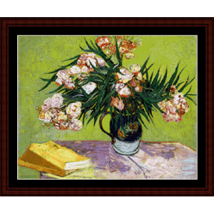 oleanders - van gogh cross stitch pattern by cross stitch collectibles