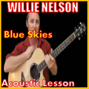 learn to play blue skies by willie nelson