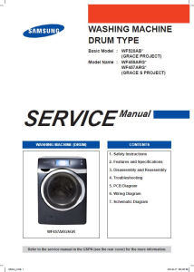 Samsung WF457ARGSGR WF457ARGSWR Washing Machine Service Manual | eBooks | Technical