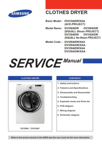 Samsung DV330AEB DV330AEW DV330AGW Dryer Service Manual | eBooks | Technical