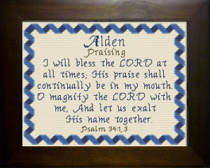 Name Blessings - Alden | Crafting | Cross-Stitch | Religious