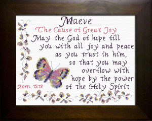 Name Blessings - Maeve   Crafting   Cross-Stitch   Religious