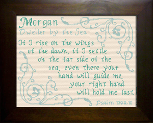 Name Blessings - Morgan | Crafting | Cross-Stitch | Religious