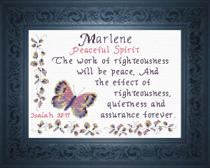 Name Blessings - Marlene   Crafting   Cross-Stitch   Religious