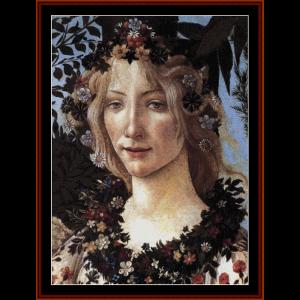 Primavera II - Botticelli cross stitch pattern by Cross Stitch Collectibles | Crafting | Cross-Stitch | Wall Hangings